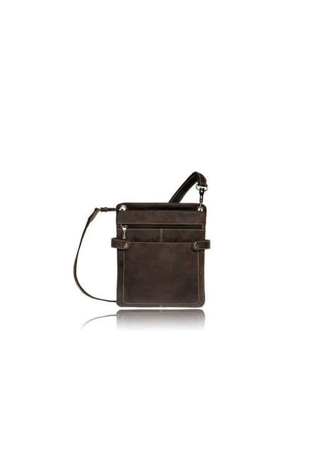 Visconti Messenger Bag Oiled Leather Brown